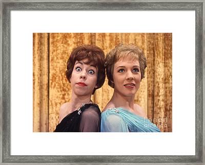 Carol Burnett And Julie Andrews Carnegie Hall 1962 Framed Print by The Harrington Collection