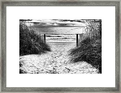 Carolina Beach Entry Framed Print by John Rizzuto