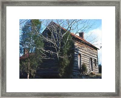 Carolina Cabin Framed Print by Richard Rizzo