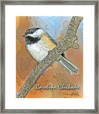 Framed Print featuring the photograph Carolina Chickadee Digital Image by A Gurmankin