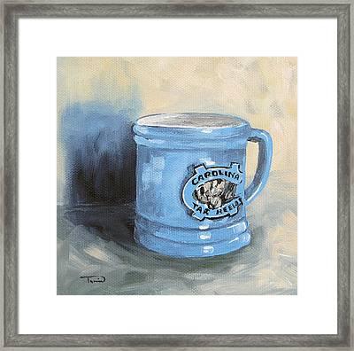 Carolina Tar Heel Coffee Cup Framed Print by Torrie Smiley