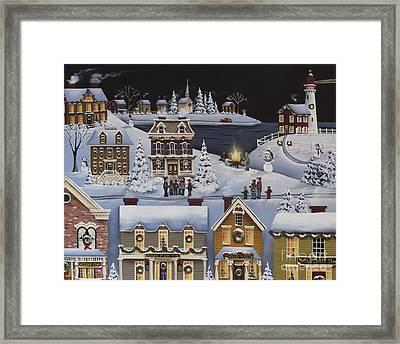 Caroling In Winterberry Framed Print by Catherine Holman