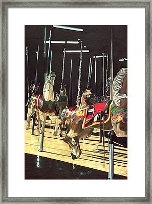 Carousel Framed Print by Anthony Butera