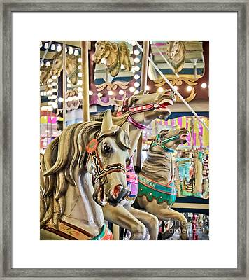 Carousel At Casino Pier Framed Print by Colleen Kammerer