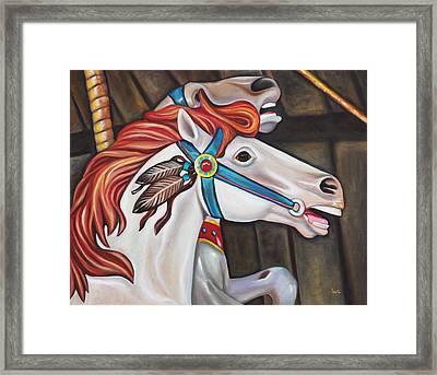 Carousel Chief Framed Print by Eve  Wheeler