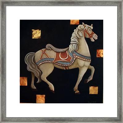 Carousel Horse Framed Print by Gerry High