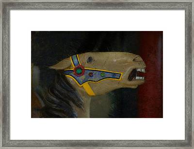 Carousel Horse Painterly 2 Framed Print by Ernie Echols