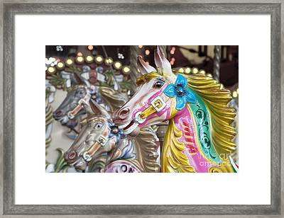 Carousel Horses Framed Print by Jane Rix