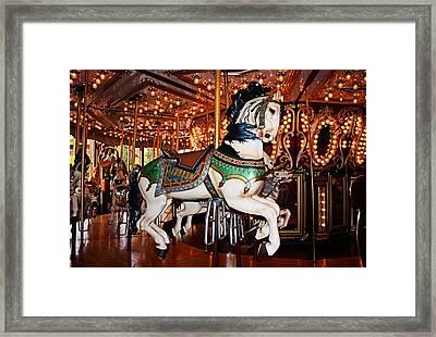 Carousel Framed Print by Kristin Elmquist