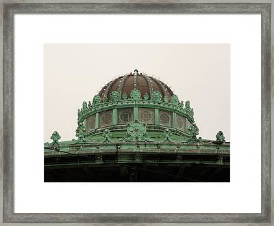Carousel Roof Asbury Park Nj Framed Print by John Williams