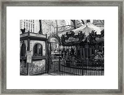 Carousel Tickets Mono Framed Print by John Rizzuto