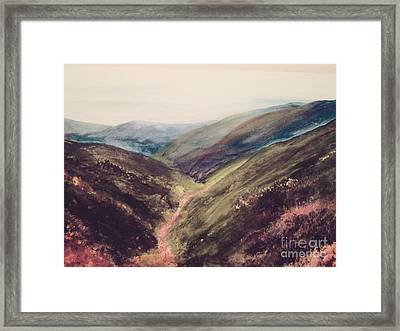 Carpathian Valleys Framed Print by Trilby Cole