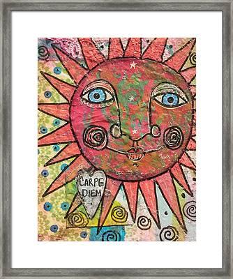 Carpe Diem Framed Print by Micki Rongve