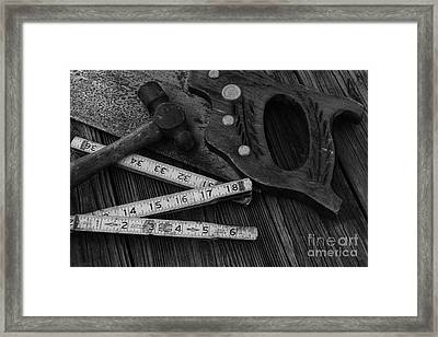 Carpenter - Measure Twice Cut Once Framed Print by Paul Ward