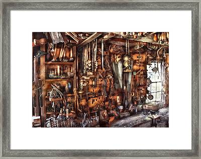 Carpenter - That's A Lot Of Tools  Framed Print by Mike Savad