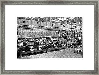 Carpet Weaving In Turkey Framed Print by Science Photo Library