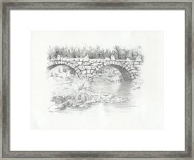 Carr Bridge Framed Print by Nan McCarthy