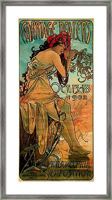 Carriage Dealers Framed Print by Alphonse Marie Mucha