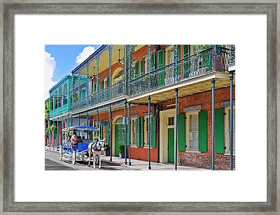 Carriage Ride New Orleans Framed Print by Christine Till