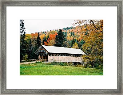 Carriage Road In Autumn Framed Print by Lena Hatch