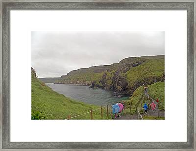 Carrick-a-rede Northern Ireland Framed Print by Betsy Knapp