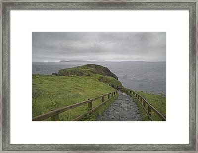 Carrick-a-rede Pathway Ireland Framed Print by Betsy Knapp