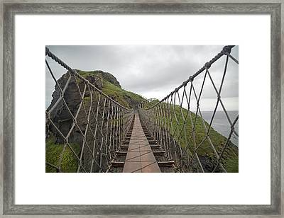 Carrick-a-rede Rope Bridge Ireland Framed Print by Betsy Knapp