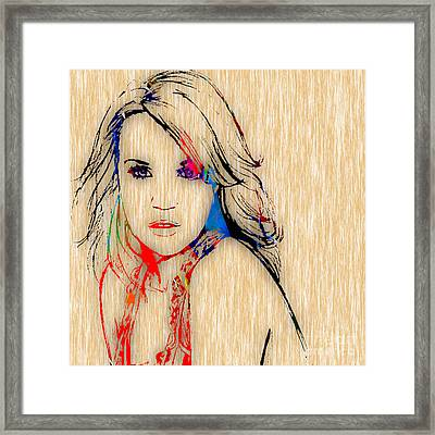 Carrie Underwood Painting. Framed Print by Marvin Blaine