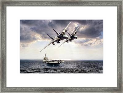 Carrier Strike Group Three Framed Print by Peter Chilelli
