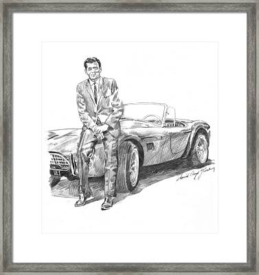 Carroll Shelby And Csx 2000 Framed Print by David Lloyd Glover