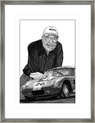 Carroll Shelby    Rest In Peace Framed Print by Jack Pumphrey