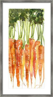 Carrot Bunch Art Blenda Studio Framed Print by Blenda Studio