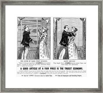 Carr's Venetian Blind 1896 Framed Print by Granger