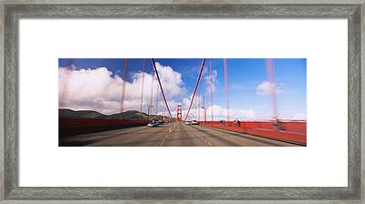Cars On A Bridge, Golden Gate Bridge Framed Print by Panoramic Images