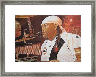 Carter Beauford At Red Rocks Framed Print by Joshua Morton