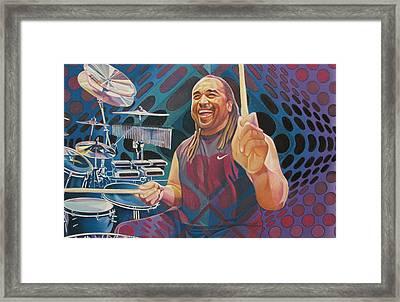 Carter Beauford Pop-op Series Framed Print by Joshua Morton