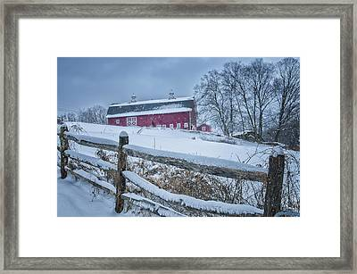 Carter Farm - Litchfield Hills Winter Scene Framed Print by Thomas Schoeller