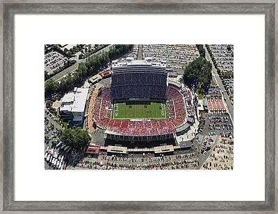 Carter Finley Stadium Framed Print by Georgia Fowler