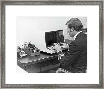 Carterfone Computer Terminal Framed Print by Us Navy