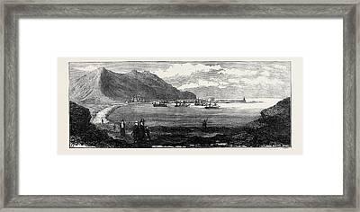 Carthagena After The Siege Mersel Kebir Bay Near Oran Framed Print by English School