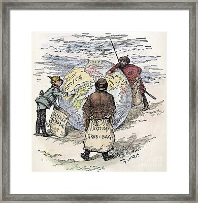 Cartoon - Imperialism 1885 Framed Print by Granger