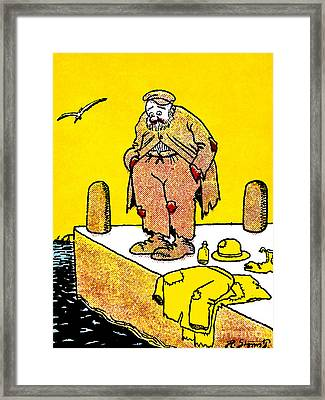 Cartoon 09 Framed Print by Svetlana Sewell