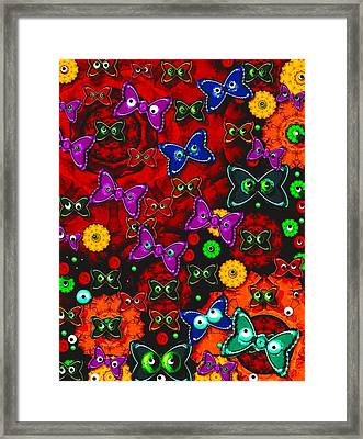 Cartoon In Happy Style Pop Art Framed Print by Pepita Selles