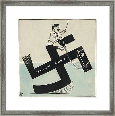 Cartoon Of French Leader Pierre Laval Framed Print by Everett