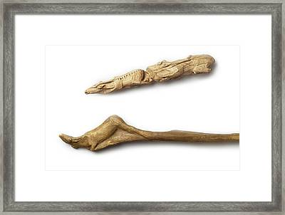 Carved Artefacts, Upper Palaeolithic Framed Print by Science Photo Library