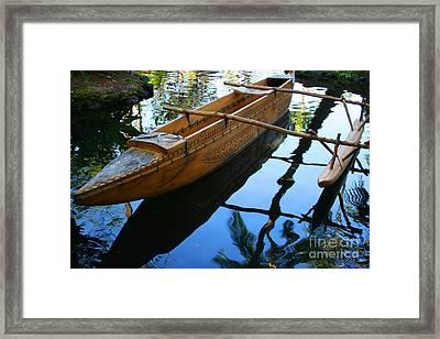 Carved Canoe Framed Print by Jennifer Apffel