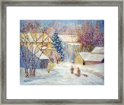 Carversville Snow Framed Print by Pamela Parsons