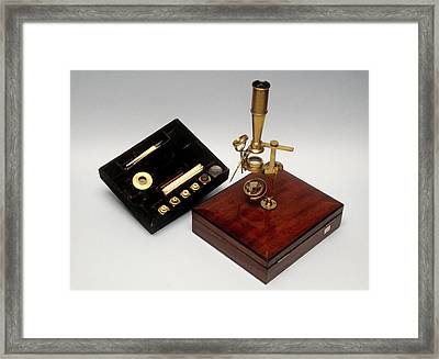 Cary Type Microscope Framed Print by Science Photo Library