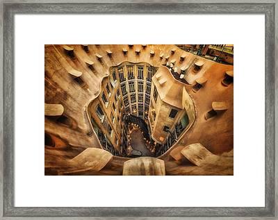 Casa Mila?, La Pedrera, Barcelona. Framed Print by Massimo Cuomo
