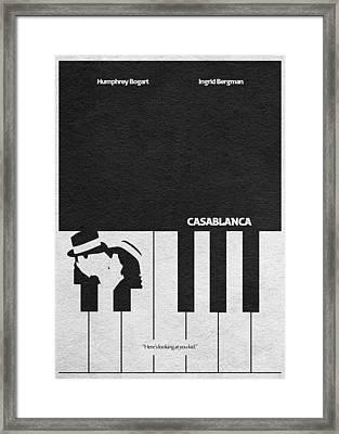 Casablanca Framed Print by Ayse Deniz